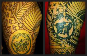 61d7e1eca Mark is a proud Visayan and wanted a tattoo to signify his cultural  background and religious